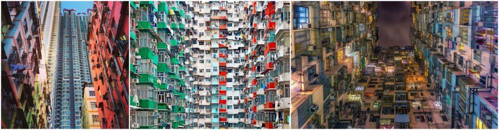những tòa nhà cũ ở Mongkok