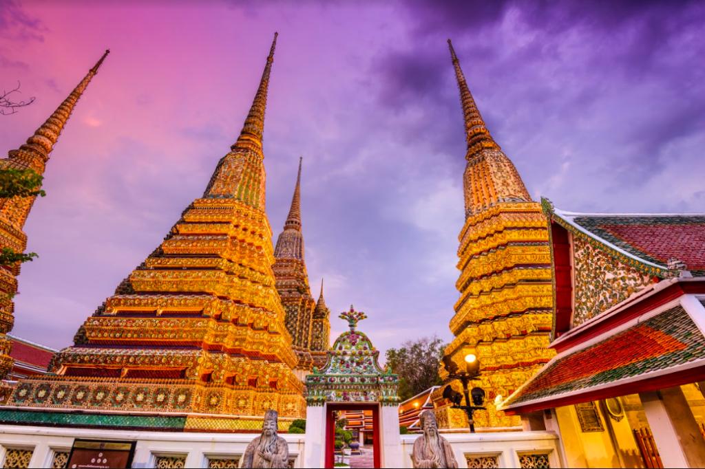 Tham quan chùa Wat Pho Thái Lan