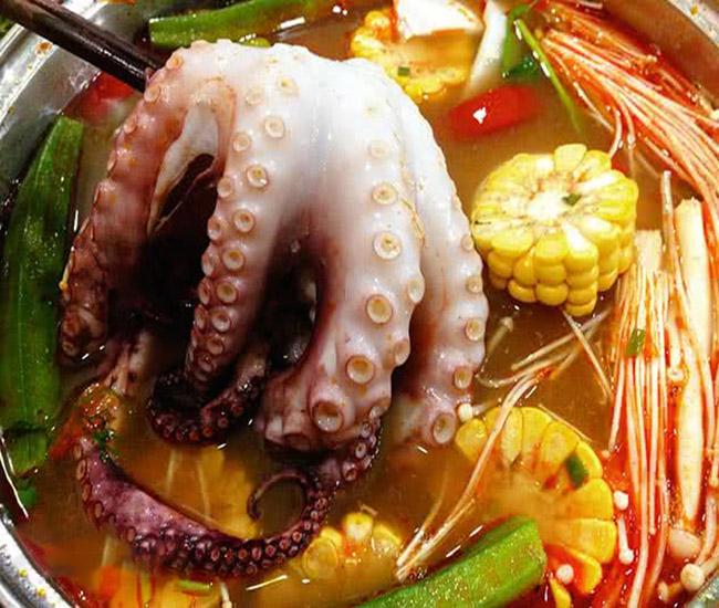 Món mì bạch tuộc-Mun O Ra Myung